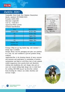 China Feed Grade Zinc Sulphate Monotydrate  ZnSO4.H2O on sale