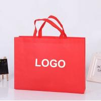 Eco Friendly Custom Printed Non Woven Bags , Non Woven Fabric Carry Bags
