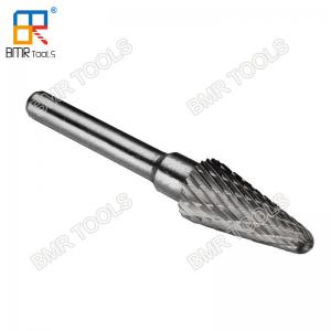 China BMR TOOLS L type Taper Shape tungsten carbide burrs cutter double cut rotary files on sale
