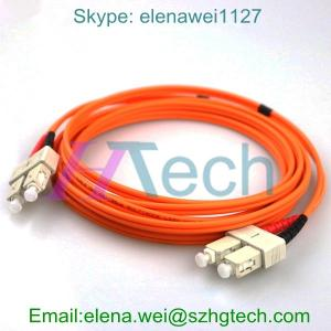 China SC/SC Optical Fiber Patch Cord, Simplex/Duplex Fiber Optic Cable, SM/MM Fiber Jumper on sale