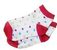 China 100% Cotton Polka Dot No Seam Anti Slip Baby Socks, Short Tube Baby Girls Dotted Sock on sale