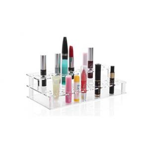 China Acrylic Pen Rack Square Two Layers Lipstick Display Cosmetics Stand Cosmetic Display on sale