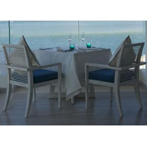 China Hotel Island Resort White Square Ash Wood 80 × 80 Dining Table With Armchair on sale