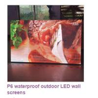 Outdoor P6 High Brightness LED Display Video Wall Screen 14-16 Bit Grey Scale