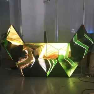 Triangle Dj Club Diy Led Display 3d , Led Video Wall Panel For Stage
