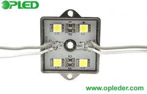 China Square SMD 5050 LED module , indoor 4 leds waterproof IP67 for signs on sale