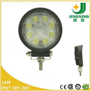 China Car Truck Tractor ATV 24W LED Work Light 12V 24V Round LED Work Lamp on sale