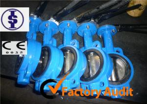 China DI CI WCB SS Pneumatic Butterfly Valve With Hand Lever Or Worm Wheel Operator on sale