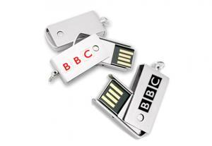 China Promotional Mini Metal USB Flash Drives 16GB , Swivel USB Stick on sale