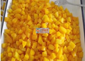 China Healthy canned yellow peach slices in light syrup / Peeled halves yellow peach on sale