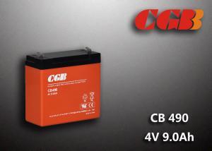 China 1.12KG Sealed Lead Acid Battery 4V 9Ah CB490 Series ABS Plastic V0 Battery on sale
