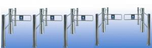 China CE Certified Automatic Supermarket Swing Gate 304 Stainless Steel Sensor Detection  on sale