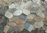 China Outside Block Paving Stones , Hard Quartzite Slate Paver Stepping Stones wholesale