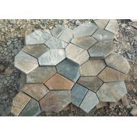 Outside Block Paving Stones , Hard Quartzite Slate Paver Stepping Stones