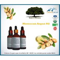 100% Bio certified Organic Argan oil in glass bottle with dropper