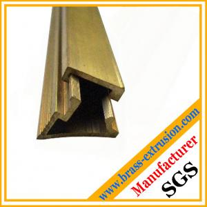 China Leaded copper alloy Brass extrusion profiles Sections on sale