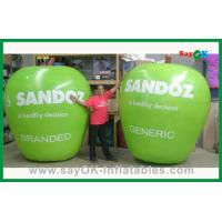 Custom Green Inflatable Products Inflatable Apple For Advertisement