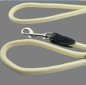 China peso leve de couro redondo genuíno da trela da ligação do chicote de fios de 2.66m para o cão on sale