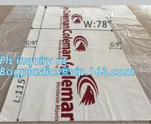 China top covers clear plastic window covers printed pallet covers, Jumbo PE Plastic Type Reusable Pallet Cover, Gusseted Side on sale