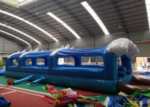 China 32'L Large Inflatable Slip N Slide Double Lanes Customized Design on sale