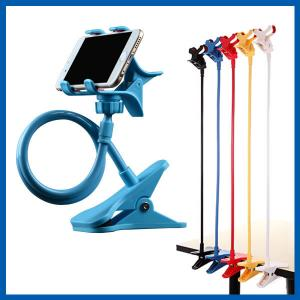 China Blue Universal Mobile Phone Accessories Clip Holder Lazy Bracket Flexible Long Arms on sale