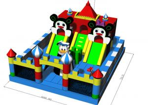 China Commercial Grade Fun City Inflatables Castle Jumping Bouncer Combo 7X6X4.2m on sale