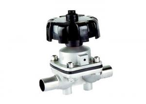 China Weldable 3 Way Diaphragm Flow Control Valve  3 - 8 Bar Pressure DIN SMS Standard on sale