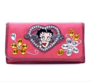 China wholesale fashion betty boop wallets on sale