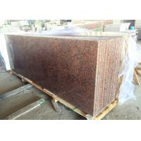 Maple Red Kitchen Island Granite Top 1.8 Cm Thick 4 Edges Polished