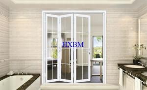 China Double Tempered Glazing External Folding Doors With Sound Insulation And Heat Insulation on sale