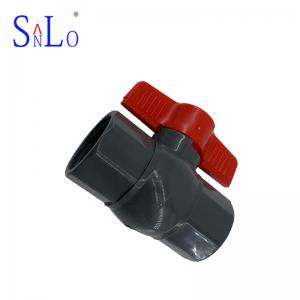 China Great Pvc Pipe Ball Valve UPVC Pressure Pipe Fittings With Black Color on sale