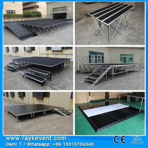 China RK Portable outdoor wooden portable stage stairs folding portable stage system on sale