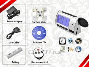 China Cámaras ocultadas remotas ocultadas despertador inalámbrico CEE-SG006 del registrador de la cámara DVR de la tabla mini on sale