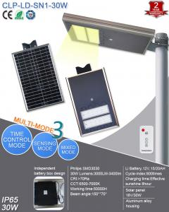 China 12V Solar Powered Led Street Lights Integrated 30W For Factory , School on sale