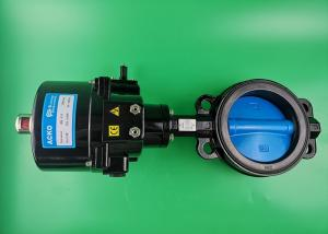 China Solenoid Electric Butterfly Valve Wafer Type Air Flow Control 220Vac 50 60 Hz on sale