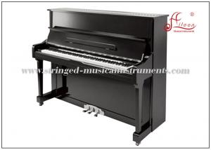 China Acoustic Silent Keyboard 88 Keys Upright Piano Musical Instrument Black Polished on sale