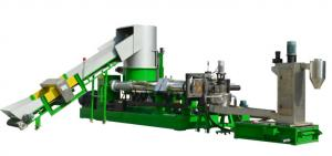 China Waste Plastic Granules Making Machine with Water Ring Die Face Cutting on sale