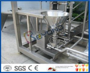 China La resbalón montó 1000L/los productos lácteos maquinaria, planta de tratamiento de H de la leche con el separador poner crema on sale