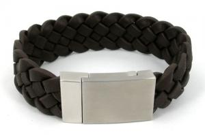 China Custom size and color fashion and health energy magnetic leather bracelet  on sale