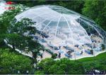 Aluminum Frame Transparent Marquee Tent Outside With Unique Decorations