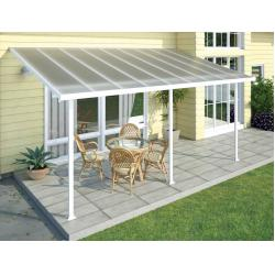 China Polycarbonate Alumawood Patio Cover , Powder Coated Aluminum Canopy  For Veranda For Sale