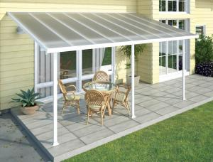 Polycarbonate Alumawood Patio Cover Powder Coated Aluminum Canopy For Veranda