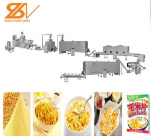 China 110KW Breakfast Cereal Maize Flakes Making Machine Low Electric Cost on sale