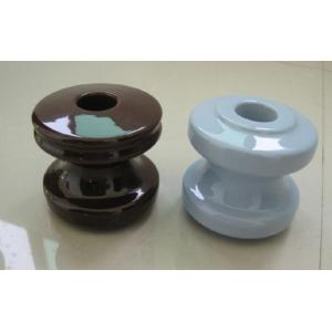 China ANSI Porcelain shackle type insulators with  brown color porcelain disc insulator 54-1 on sale