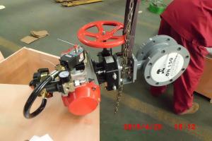 China Le métal excentré de triple a posé la vanne papillon pour la pression atmosphérique de MPA de pétrole/gaz/eau 0,5 on sale