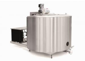 China Food Grade Bulk Milk Cooling 304 Stainless Steel Tank With Customized Capacity on sale