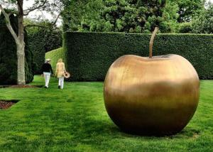 China Large Bronze Statue Apple Sculpture Contemporary For Garden Decoration on sale