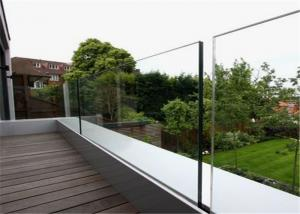Quality Outdoor Glass Panel Railings Frameless U Channel Glass Balustrade For Balcony Railing for sale