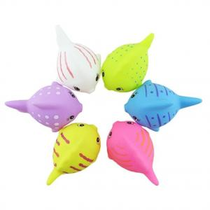 China Cute Colorful Plastic Baby Toys For Bathing Cartoon Animal Fish Shaped on sale
