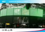La vidéo flexible de HD a mené le panneau mené transparent de l'affichage P7.81 pour l'hôtel/banque